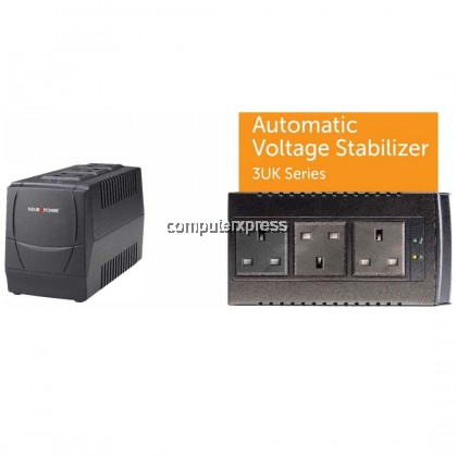 NEUROPOWER AVS800-3UK 800VA AUTOMATIC VOLTAGE REGULATOR UPS BACKUP BATTERY POWERTANK