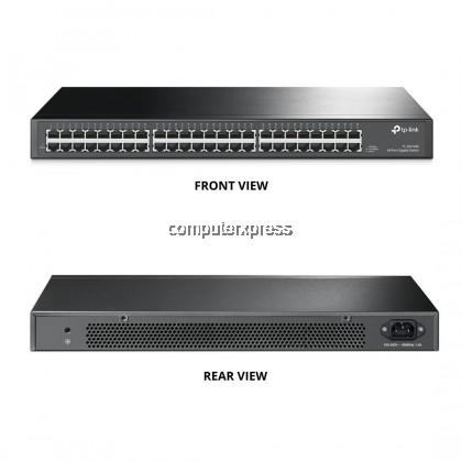 TP-Link TL-SG1048 48-port Gigabit Rackmount Switch, 48 10/100/1000M RJ45 ports (1U 19-inch rack-mountable steel case)