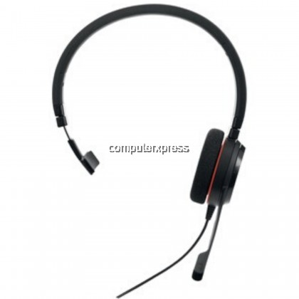 Jabra EVOLVE 20 Wired Over-the-head Mono Headset - Supra-aural - Noise Cancelling Microphone - USB